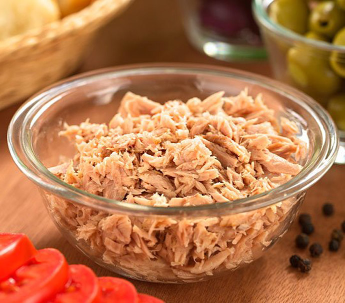Packaged tuna In Dish